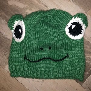 Knitted Frog Hat